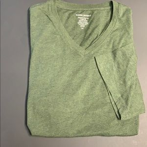 Banana Republic Premium Wash Large Green V Neck...